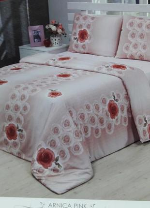 Качественное турецкое полотельное белье из микросатина duccio arnica pink евро
