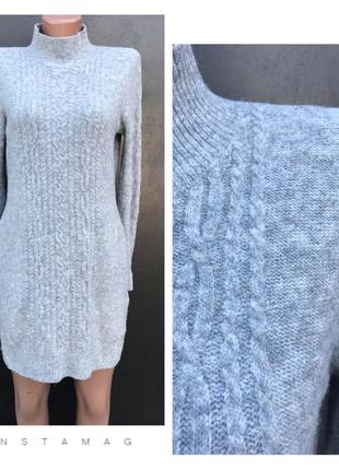 Шерстяное вязанное платье.4%альпака.рр s/m.