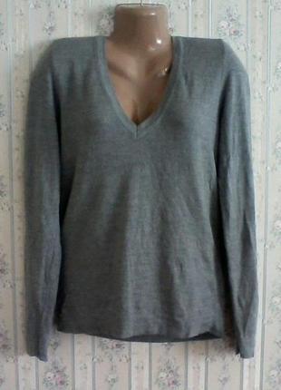 Шерстяной джемпер-свитер, оверсайз, разм. 46-48