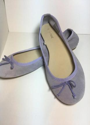 Замшевые туфли балетки next 41 размер стелька 26,5 см