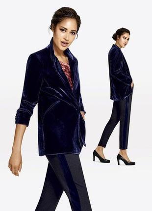 Шикарний бархатний удлиннение пиджак от esmara. 38 размер