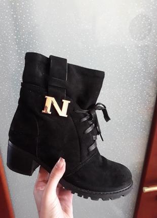Сапоги на каблуке зима