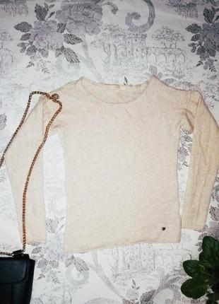 Шерстяной и кашемировый базовый мягкий и теплый свитер пуловер кофта джемпер esprit