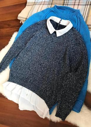 Теплая кофта -рубашка , свитер