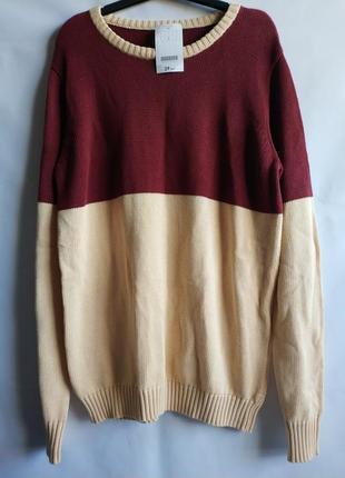 Мужской  джемпер свитер    хлопок   французского бренда promod ,l