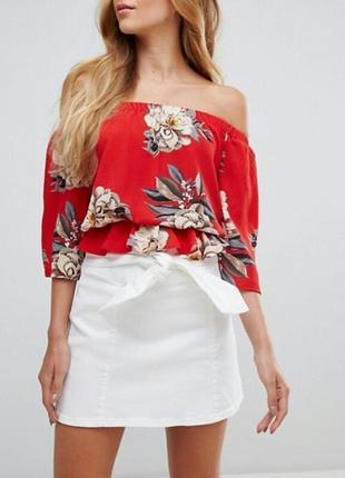 Красивейшая блуза-топ  со спущенными плечами parisian