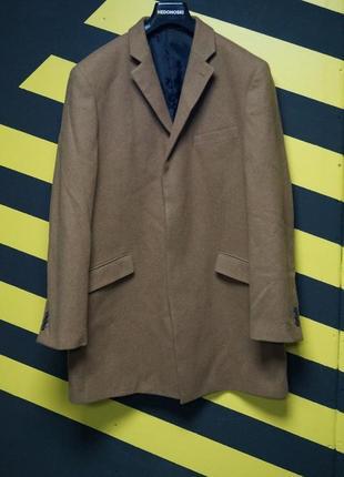 Классическое длинное пальто с шерстью