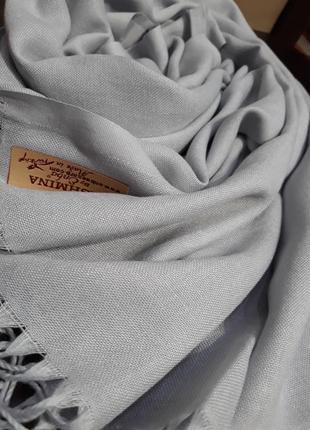 Шикарный серый кашемировый шарф шаль качество