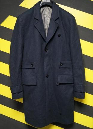 Классическое пальто - бушлат с шерстью g star wool coat
