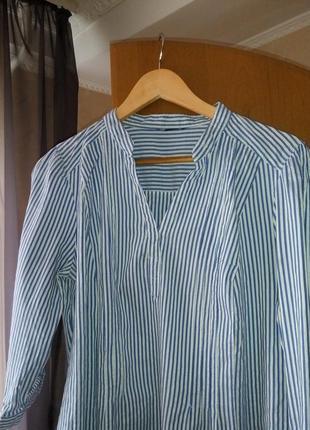 Полосатая легкая рубашка