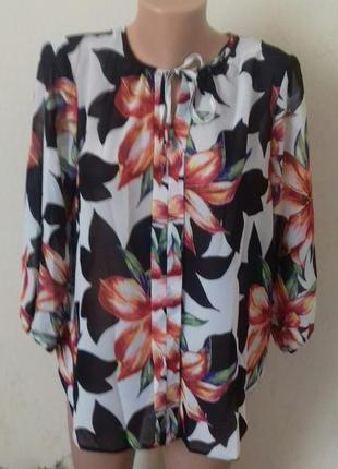 Новая красивая  блуза с принтом m&co