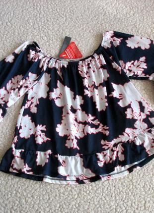 Новая блуза открытые плечи с воланами на рукавах south
