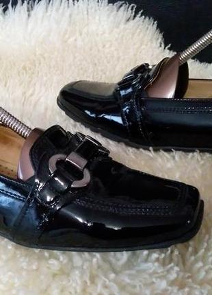 Gabor туфли еколак внутри кожа 38-38.5 см по ст 25 см ширина 8.5 см