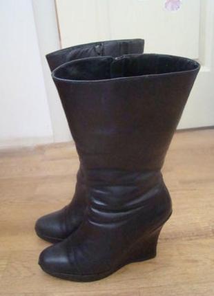 Carlo pazolini кожаные сапоги зимние на платформе 39 размер
