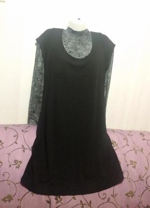 Трикотажное платье-сарафан (пог-50см+) сша