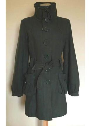 Доступно - стильное деми-пальто *vila clothes* р. m - 50% шерсть!!