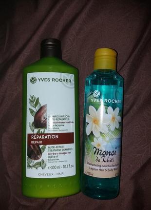 Набір шампунь жажоба +гель маной де таїті