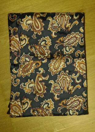 Винтажный  шерстяной двухсторонний шарф