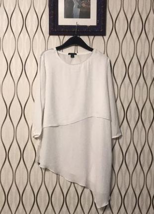 Удлиненная асимметричная блузка amisu!