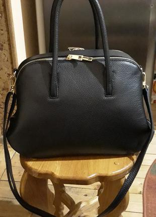 Стильна шкіряна сумка