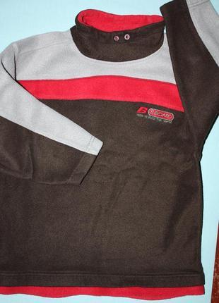 Флисовый фирмен.свитер  для мальчика р-128/134