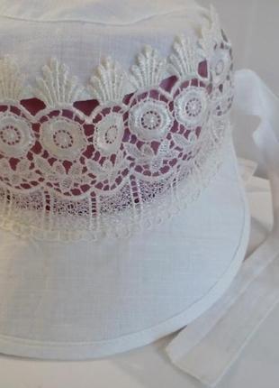 Льняная кепка бандана 100% натуральный лен, экологически легкая