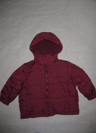 Зимняя куртка на 3-4 года palomino. натуральный пуховик