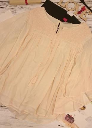 Красивая блуза с вышивкой большой размер