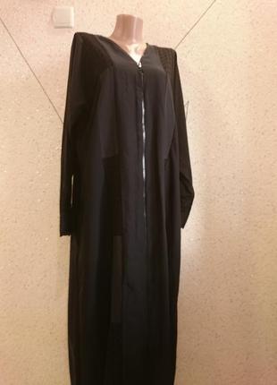 Шикарное платье рубашка на молнии большой размер