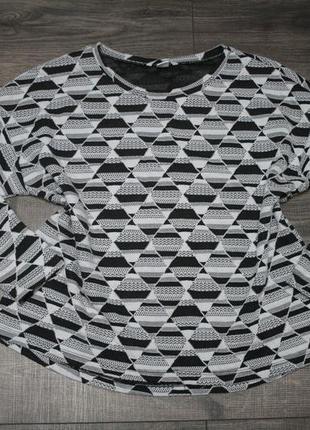 Черно-белый свитшот оверсайз - m