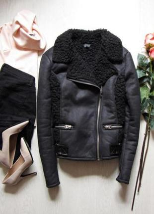 Дублёнка косуха куртка topshop