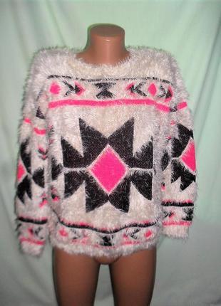 Теплый свитер - травка размер с