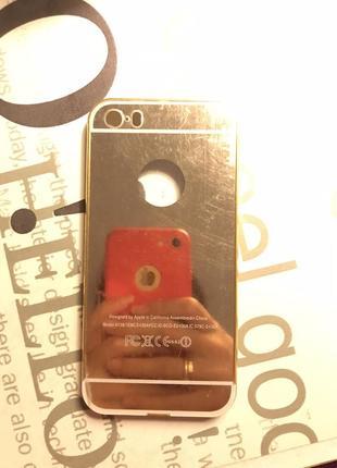 Зеркальный чехол на iphone 5 s/se