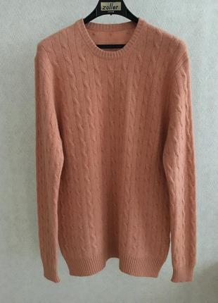 Кашемировый свитер с косами большой размер