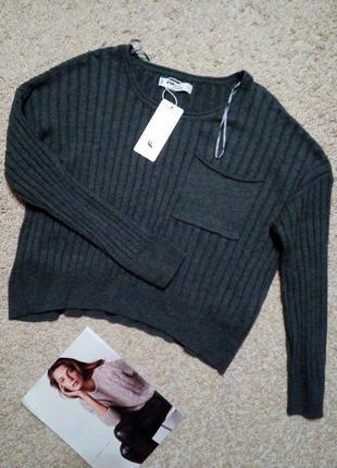 Fb sister( new yorker) крутой, модный кроп свитер оверсайз. новый!