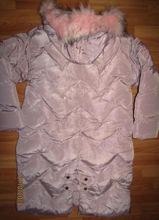 """Куртка пальто """"зефирка"""" зима на меху, для девочек,16 лет, венгрия 10,162"""