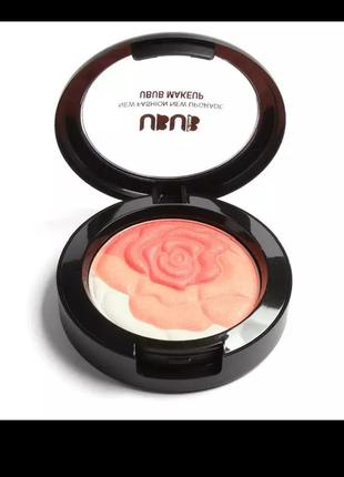 Сатиновые румяна-хайлайтер  ubub make up natural cremy blush с переливом