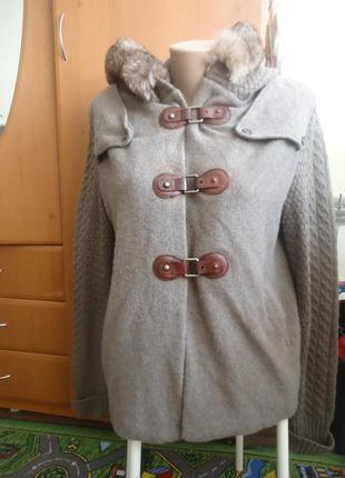 Фирменное пальто свитер massimo dutti**