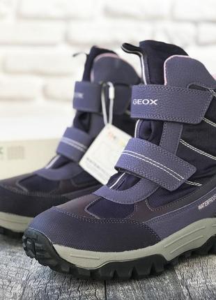 Зимние водонепроницаемые ботинки geox (италия)