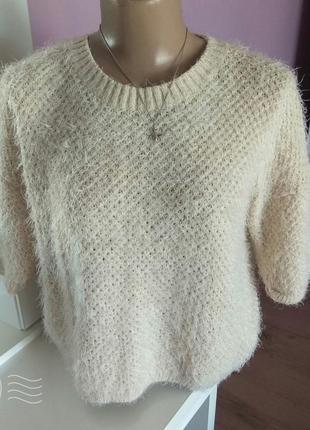 Свитер травка, волосатый свитер