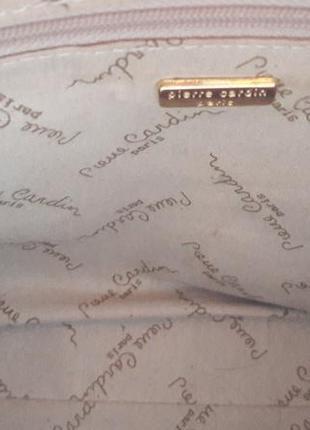 Кожанная сумка piere cardin (оригинал)5