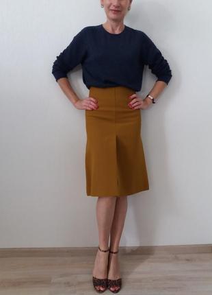 Плотная  юбка  в цвете горчица cos)оригинал