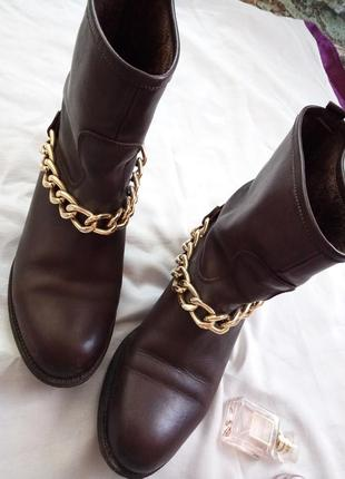 Ботинки натуральная кожа италия