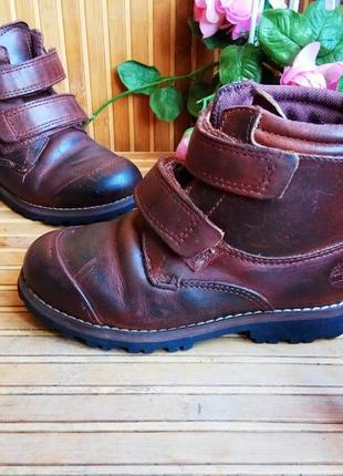 Кожаные ботинки от timberlend 28р.