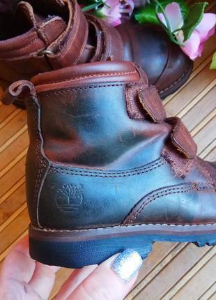 Кожаные ботинки от timberlend 28р.4 фото