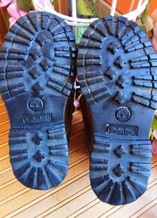 Кожаные ботинки от timberlend 28р.5 фото