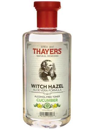 Thayers, тоник с экстрактом огурца ,гамамелиса и алоэ вера, не содержит спирт, 355 мл