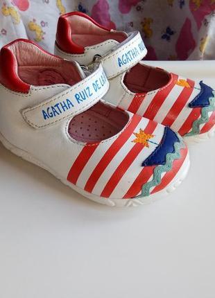 Кожаные туфли agatha ruiz de la prada