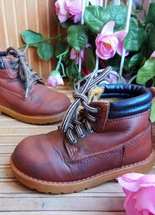 Кожаные ботинки 21р. италия.