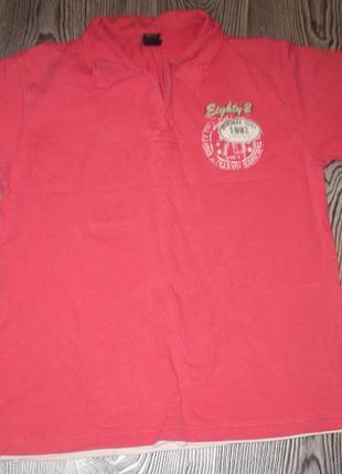 Домашняя розовая футболочка поло next